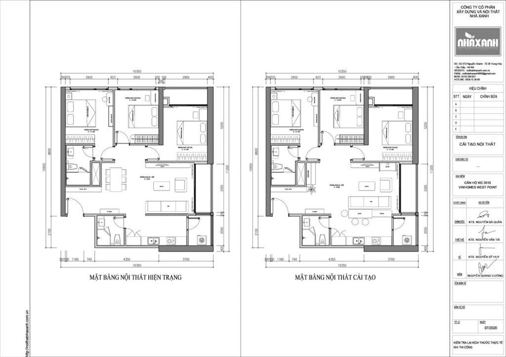Thiết kế căn hộ 3 phòng ngủ hiện đại