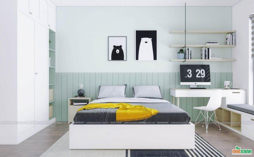 Thiết kế căn hộ 4 phòng ngủ đẹp