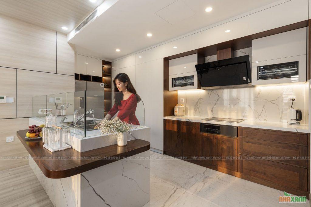 Báo giá thi công nội thất cao cấp phòng bếp