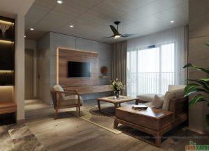 thiết kế nội thất gỗ óc chó cao cấp tại hà nội